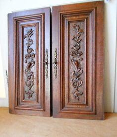 Pair French Antique CARVED OAKWOOD Doors PANELS PLAQUES & Pin by Imran Malik on Door   Pinterest   Doors pezcame.com
