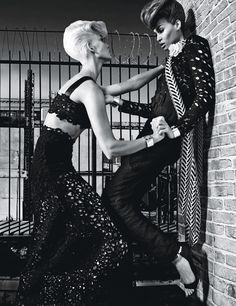 Legendary fashion photographer Steven Klein contributes to the latest edition of W Magazine with a stellar session starring supermodels Karlie Kloss and Joan Smalls styled by magazine's regular Edward Enninful. Karlie Kloss, High Fashion Photography, Editorial Photography, Makeup Photography, Fashion Models, Fashion Beauty, Womens Fashion, Fashion Portraits, Fashion 2014