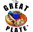 Great Plate: The All-in-One Food and Beverage Holder!