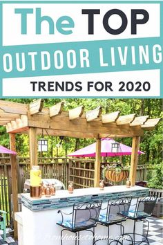 I love these 2020 outdoor living trends. Who knew that catios were such a big thing? I'm going to have to add one to my garden! #fromhousetohome #2020trends #outdoorliving #garden #outdoordecor #homedecortrends Outdoor Garden Rooms, Outdoor Decor, Outdoor Patios, Outdoor Kitchen Bars, Outdoor Kitchens, Porches, Granny Pods, Granny Granny, Patio Design