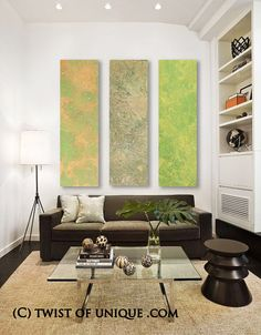 Watercolor Abstract painting 3 Long panel by TwistOfUnique on Etsy, $512.00