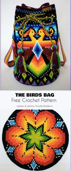 Best Photographs tapestry Crochet Bag Tips The Birds Bag Free Crochet Pattern Tapestry Crochet Patterns, Crochet Motifs, Crochet Stitches, Knitting Patterns, Purse Patterns, Crochet Diy, Love Crochet, Mochila Crochet, Bag Pattern Free