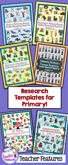 Research Paper Templates - Everything you need to get your students started on a beginning guided research writing project! Follow the Guided Research Process and use the graphic organizer templates to teach your class how to navigate and organize information.