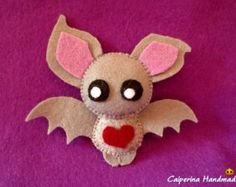 Halloween Characters felt Witch pumpkin bat by Caiperina on Etsy