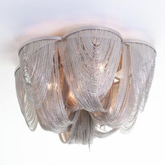 Mesh Swag Flush Mount Ceiling Light