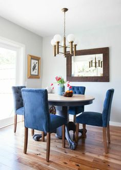 Weekend Makeover Navy Dining ChairsWhite RoomsBlue