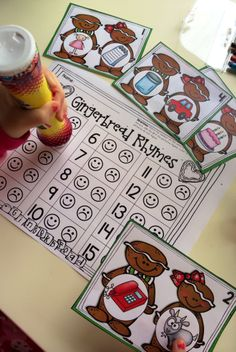 246 pages of December centers for Kinders! Skills include: beginning sounds, ending sounds, beginning short vowel sounds, CVC words, rhyming words, addition, subtraction, making ten, numbers to 20, measurement... and lots more! #TPT
