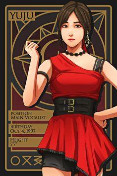 Kpop Girl Groups, Korean Girl Groups, Kpop Girls, Kpop Profiles, Gfriend Yuju, Kpop Drawings, Fashion Illustration Sketches, Korean Art, G Friend
