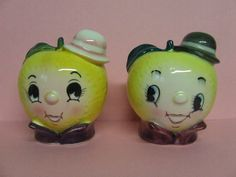 Decorative Collectibles Charitable Vintage Anthropomorphic Napco Fruit & Vegetable Head Salt & Pepper Shakers Salt & Pepper Shakers