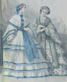 1860 civil war fashion day dress (I think this is Godey's Ladies' Book)