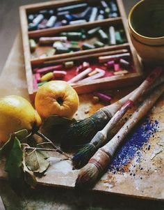 artist palette by kimbery Art And Illustration, Illustrations, Artist Life, Artist At Work, Atelier D Art, Artist Aesthetic, My Art Studio, Dream Studio, Color Of Life