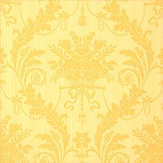Historic Damask #wallpaper in #gold from the Damask Resource collection. #Thibaut #Damask