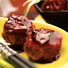 Recipes | Appetizers | Asian Barbecued Meatballs