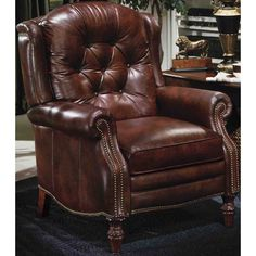 Made in America. Price will vary depending on Leather or Fabric selection. Price may not be for product as shown. Please Call for details. Shown in Discontinued Leather. Overall Size: 34.5 in. W x 36.5 in. D x 44 in. H, Seat: 22 in. W x 20.25 in. D x 20.25 in. H, Arm Height: 25.75 in., Distance from Wall for Full Recline: 19.5 in., Full Recline Length: 67 in.<br />LIMITED-LIFETIME WARRANTY:<br />The wooden frame parts are warranted against defective materials and workmanship for the useful…