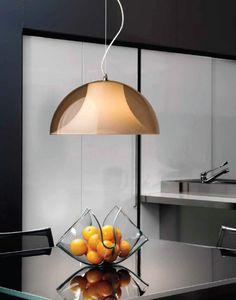 Lampa wisząca w kolorze bursztynowym będzie  idealnym uzupełnieniem każdej kuchni i jadalni.  #mlamp #lampa #oświetlenie #stylnowoczesny #salon  #wystrójwnętrz #kuchnia #jadalnia
