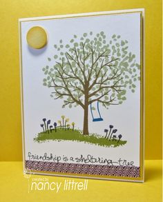 Summertime Sheltering Tree by nancy littrell - Cards and Paper Crafts at Splitcoaststampers