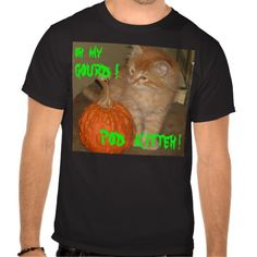HALLOWEEN CAT OH MY GOURD! POD KITTEH! SHIRTS TEES
