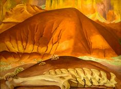 Georgia O'Keeffe - Red Hills and Bones, 1941 at the Museum of Art Philadelphia PA | Flickr - Photo Sharing!
