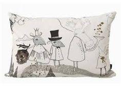 Mountain Friends Cushion design by Ferm Living Modern Throw Pillows, Accent Pillows, Decorative Pillows, Modern Kids Beds, Textiles, Kids Pillows, Danish Design, Softies, Decoration