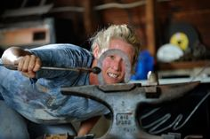 One of my favorite farrier pictures. This is Pennsylvania farrier Kelli Rhoderick, as seen on The Hoof Blog