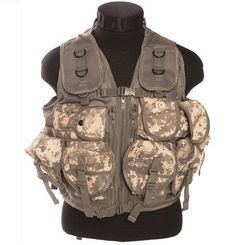 Mil-Tec Einsatzweste Tactical, 9-Taschen, At-Digital / mehr Infos auf: www.Guntia-Militaria-Shop.de