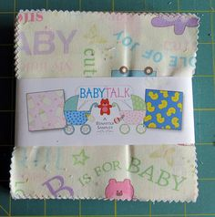 Baby Talk Charm Pack 40  5 precut fabric quilt squares