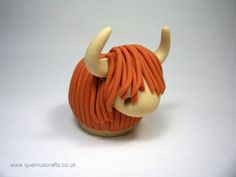 Wee Highland Cow - easy to make with a bit of fimo and a hot oven.