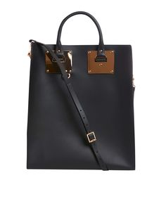 Sophie Hulme Black Brass Buckle Structured Leather Tote Bag | Bags by Sophie Hulme | Liberty.co.uk I better start saving now.