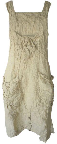 Magnolia Pearl: Goldenrod linen Charlot Apron Dress