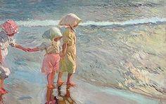 Considerada como una de las más excepcionales obras que Sorolla pintó para su primera exposición en EEUU, el cuadro 'Las tres hermanas en la playa'