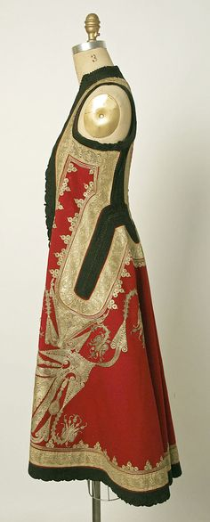 Part of a wedding ensemble. Date: late 19th century. Culture: Albanian. Medium: silk, cotton, metallic thread