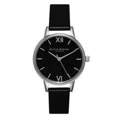 Olivia Burton Women's Midi Watch Black - Dial & Silver (326.600 COP) ❤ liked on Polyvore featuring jewelry and watches