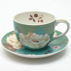 Maxwell & Williams Kimono Cup & Saucer Teal