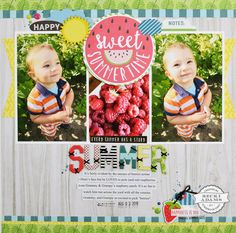 Simple Summer Layout with Process Video - Stamp & Scrapbook EXPO