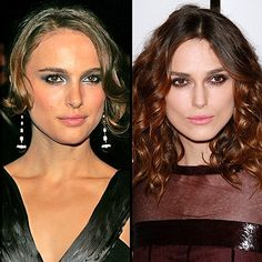 Natalie Portman/Keira Knightley Never realized how much they look alike!