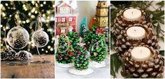 41 fantasztikus ötlet, hogyan készíts karácsonyi dekorációt tobozokból! Christmas Decorations, Christmas Tree, Table Decorations, Christmas Ornaments, Holiday Decor, Toddler Activities, Make Your Own, Ladder Decor, Diy And Crafts