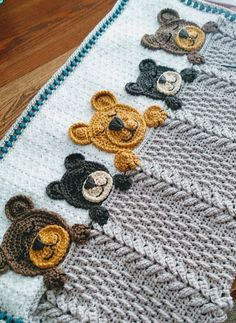 Ravelry: Project Gallery for Sleep Tight Teddy Bear Blanket pattern by Sweet Pot. - Crochet projects baby - Ravelry: Project Gallery for Sleep Tight Teddy Bear Blanket pattern by Sweet Pot… – crochet - Crochet Teddy Bear Pattern, Crochet Bear, Crochet Blanket Patterns, Baby Knitting Patterns, Crochet For Kids, Baby Blanket Crochet, Crochet Blankets, Crochet Humor, Crochet Girls