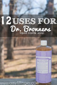 12 uses for Dr. Bronners liquid castile soap. My favorite uses for Dr. Bronners, I use this stuff for EVERYTHING! Castile Soap Uses, Castile Soap Recipes, Liquid Castile Soap, Glycerin Soap, Natural Cleaning Recipes, Homemade Cleaning Products, Natural Cleaning Products, Household Products, Diy Products