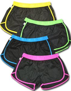 Neon Soffee Slicks shorts! Perfect for running, cheering and all sports :)