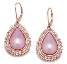 Mabe Drop & Topaz Sterling Silver Earrings