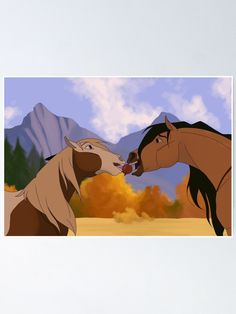 Spirit Horse Movie, Spirit The Horse, Cute Disney Wallpaper, Cartoon Wallpaper, Caballo Spirit, Horse Drawings, Cute Drawings, Spirit And Rain, Disney Horses