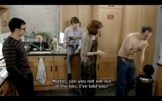 "25 Times ""Friday Night Dinner"" Was Bloody Hilarious ""No top tonight Dad?"" ""No I'm bloody boiling""<br> ""No top tonight Dad?"" ""No I'm bloody boiling"" British Humor, British Comedy, Dinner Quotes, Fixate Cookbook, Friday Night Dinners, Happy New Year Images, Tv Show Quotes, Film Quotes, Comedy Tv"