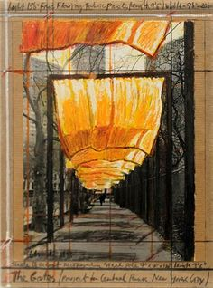 Untitled (The Gates) by Christo and Jeanne-Claude 4.3.3 Discuss the motivation for works of art such as those by Christo and Jeanne Claude, Goldsworthy, and The Smithsonian, who use natural materials, natural environment and earthscapes