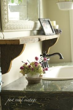 shelf over sink
