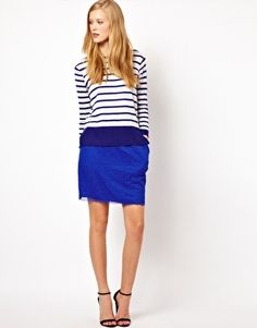 Blue with blue. Skirt £110