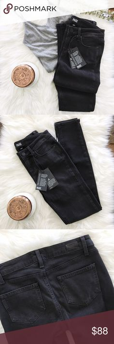 """{paige} Verdugo Ankle ultra skinny jeans ✨Paige Verdugo Ankle jeans in Black Fog with Transcend fiber technology. These are super super soft! ✨  ➳ NWT  ➳ lay flat, un-stretched measurements: about 13 1/2"""" waist, 28"""" inseam, 8"""" rise ➳ cotton, rayon, polyester, spandex ☞ size 26, but seems to run a tad small in my opinion   ❥ no trades ❥ please check photos & ask all questions prior to purchase Paige Jeans Jeans Skinny"""