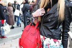 every girl needs a black and RED BAG! xo