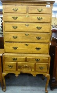 This is a really nice piece Ethan Allen Highboy chest on chest. Price: $690.00 SOLD http://www.theguildshop.org/ethan-allen-highboy