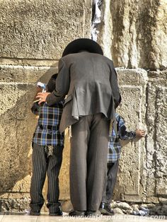 Family at the Western Wall
