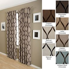 Easily add some style to a large window in your home with this patterned 108-inch curtain panel from Sahara. Its flocked design will look great with your classic or contemporary decor, and it features a rod pocket for easy hanging.